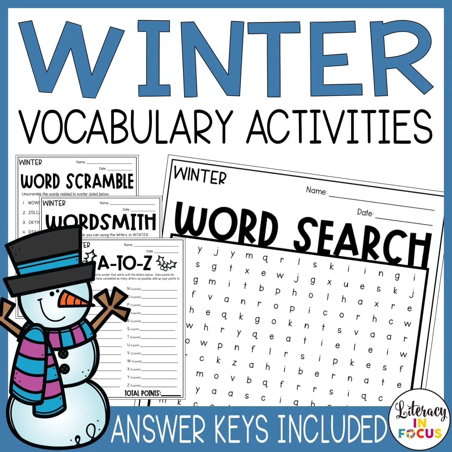4 Winter Vocabulary Activities Your Students Will Love