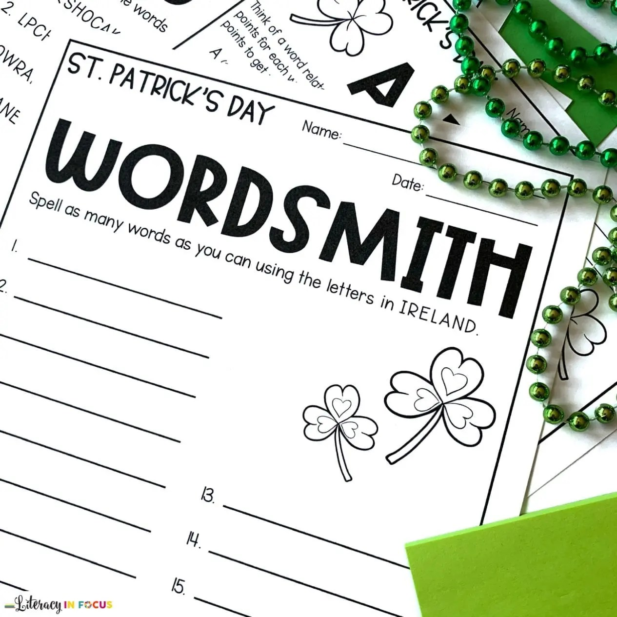 4 St Patrick S Day Vocabulary Activities Your Students