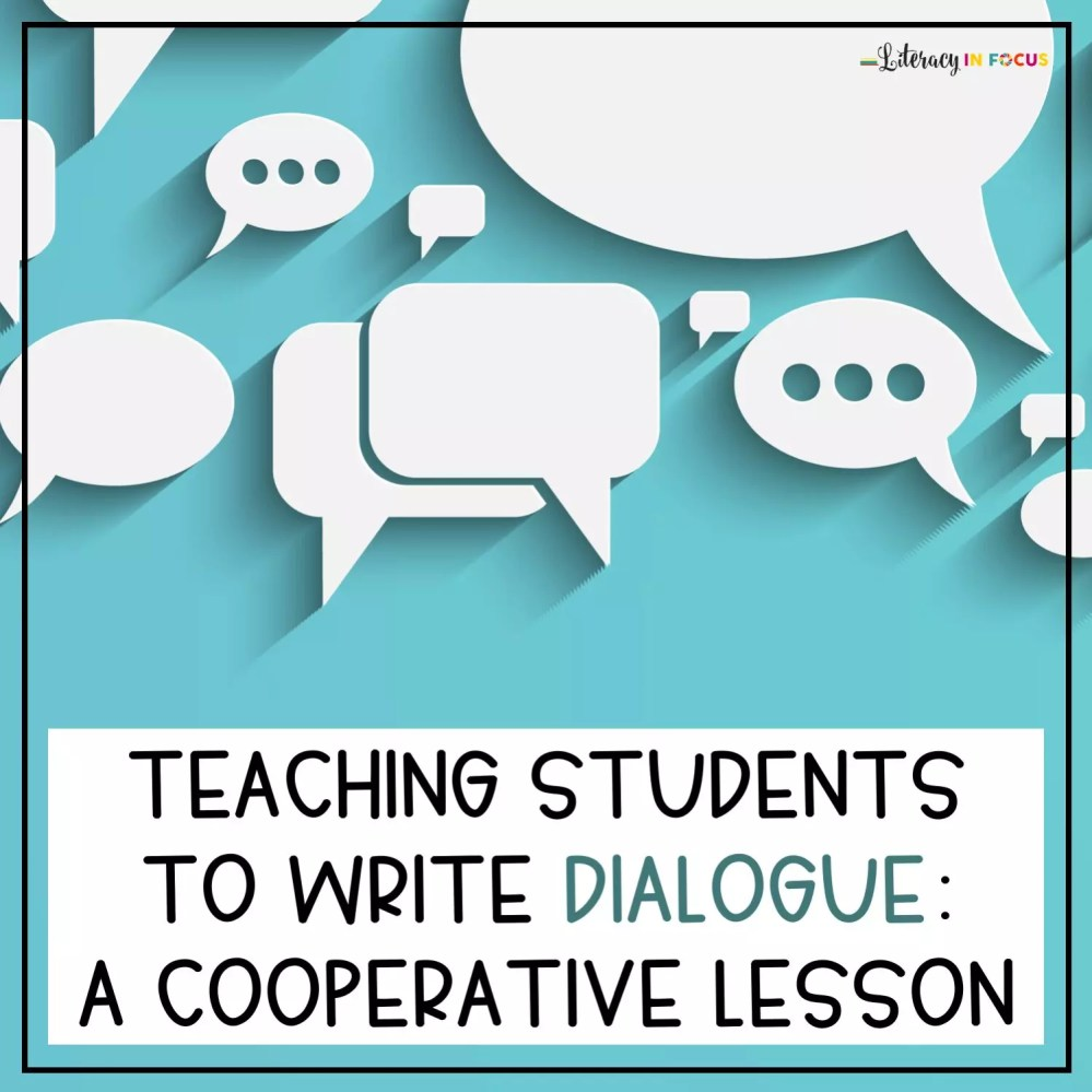 medium resolution of Teaching Students to Write Dialogue: A Cooperative Lesson Plan   Literacy  In Focus