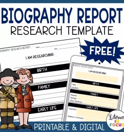 Free Biography Report Template and Resources for Distance Learning    Literacy In Focus [ 1687 x 1687 Pixel ]