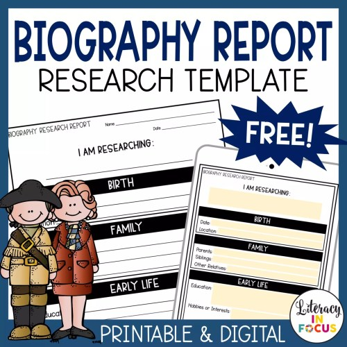 small resolution of Free Biography Report Template and Resources for Distance Learning    Literacy In Focus