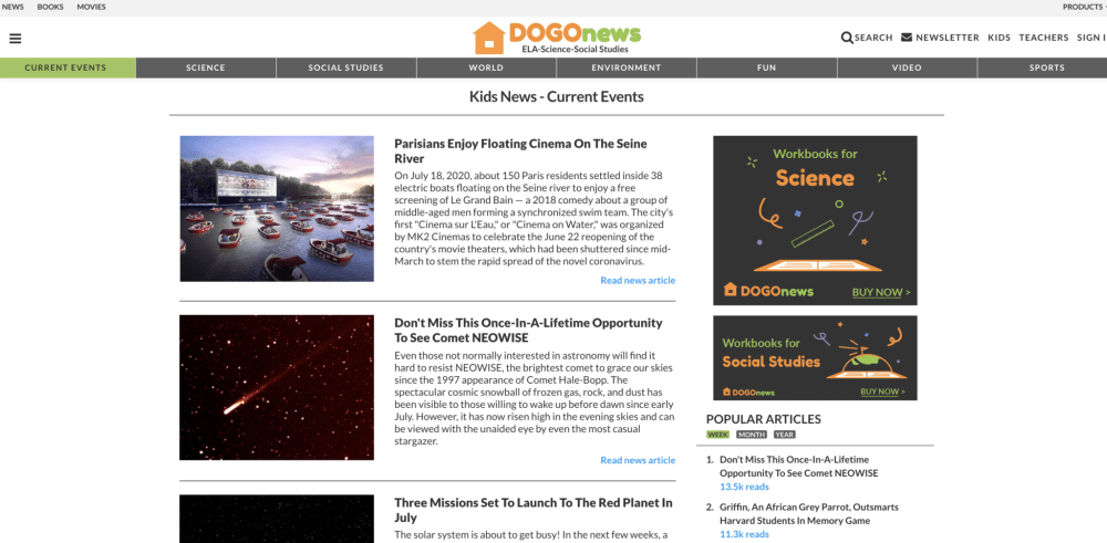 medium resolution of 7 Free Current Events Websites for Students   Literacy In Focus