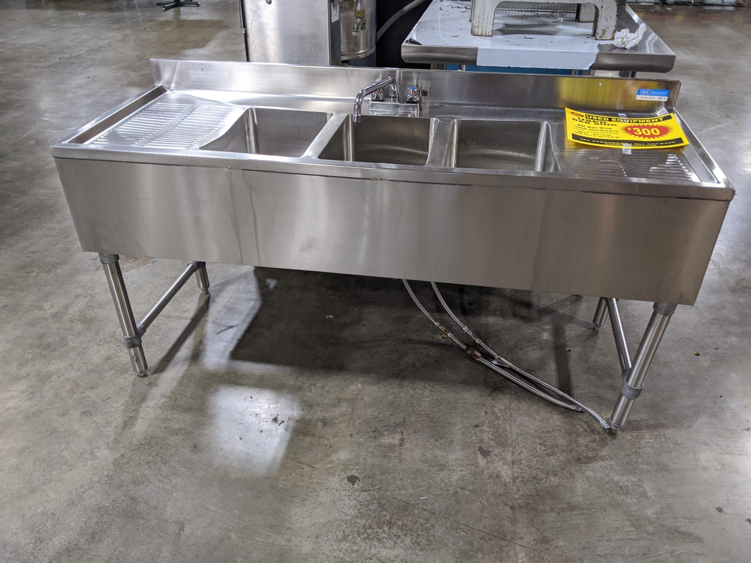 used bar sink lit restaurant supply