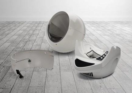 Litter-Robot 3 Connect beige desmontado