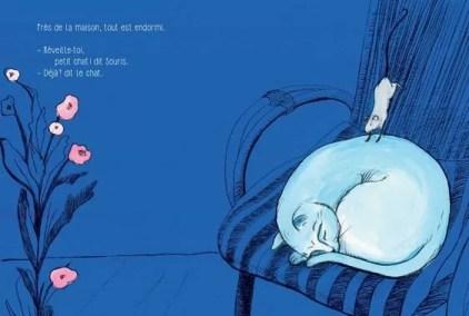 déjà la souris reveille le chat