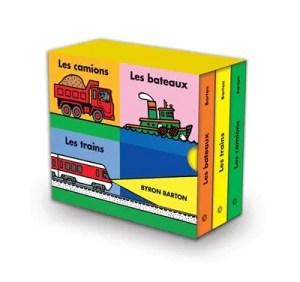 Les camions, les bateaux, les trains, Bayron Barton, l'école des loisirs,