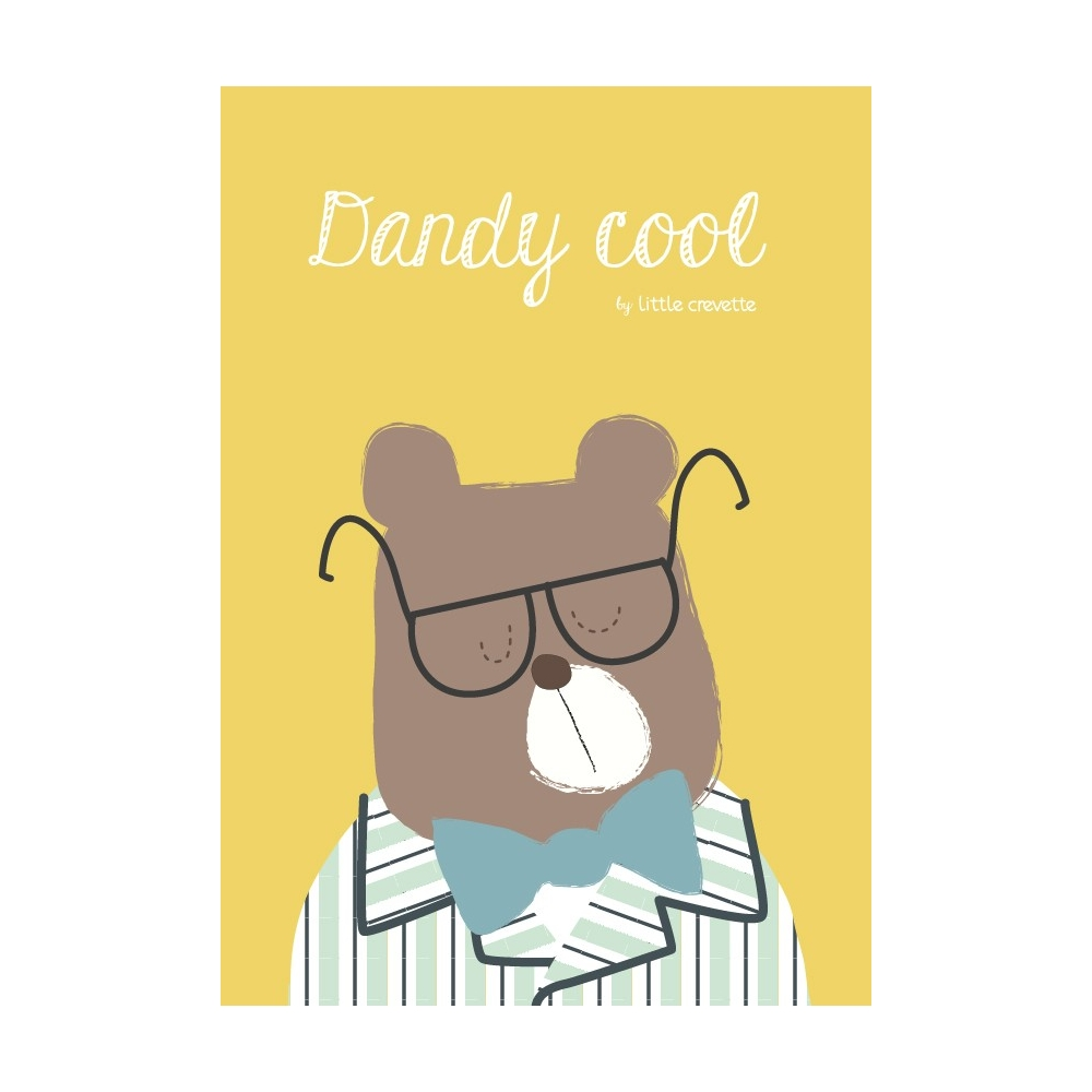 Affiche dco garon ours Dandy Cool  Little Crevette