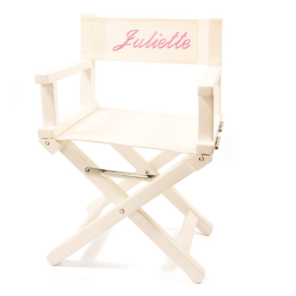 chaise cinema enfant fauteuil metteur en scene blanc personnalise