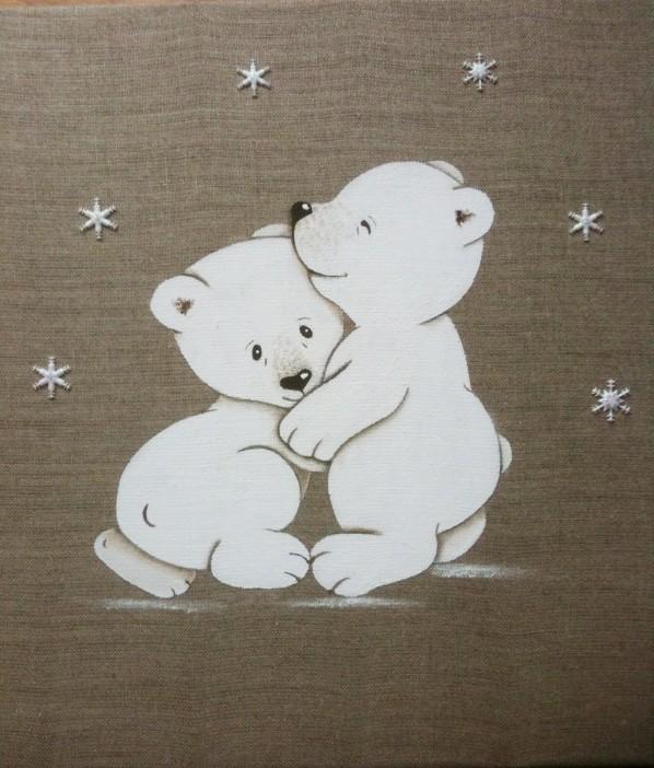 Tableau enfant personnalis ours polaire