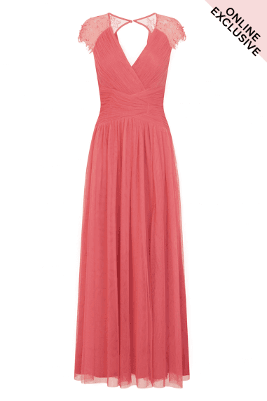 Keyhole Back Maxi Dress