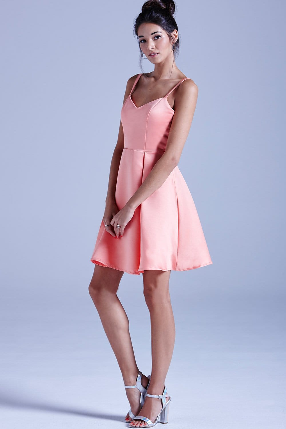 Outlet Girls On Film Coral Structured Bow Back Prom Dress  Outlet Girls On Film from Little