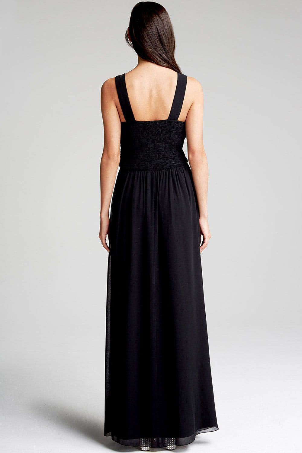 Black Embellished Neck Maxi Dress  from Little Mistress UK