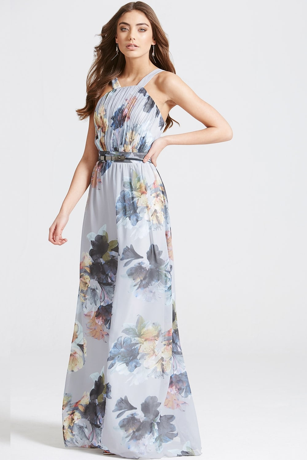 Floral Print Occasion Maxi Dress  from Little Mistress UK