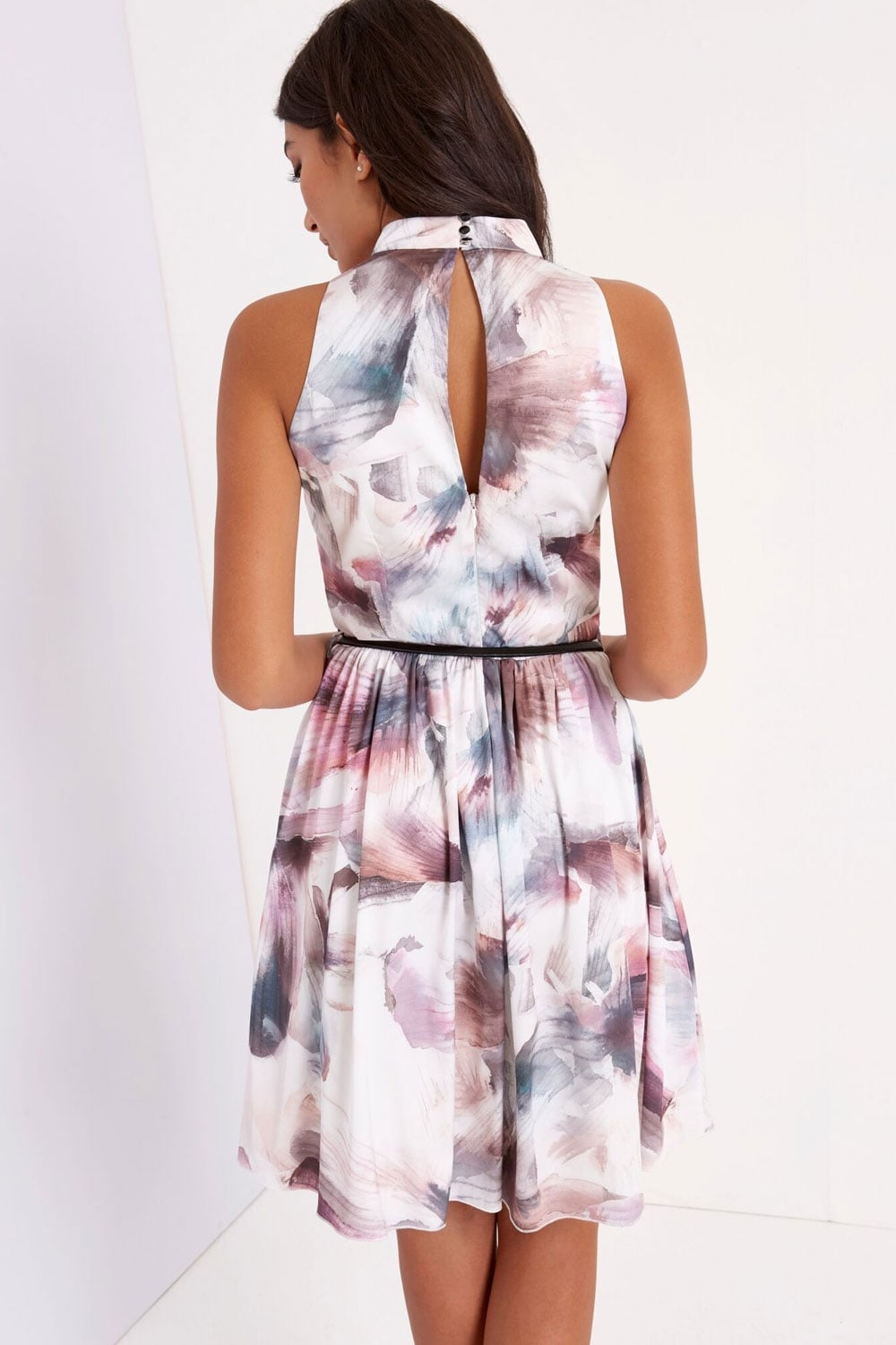 Print High Neck Prom  from Little Mistress UK