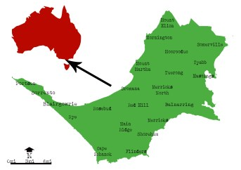 Image result for map of australia with mornington peninsula