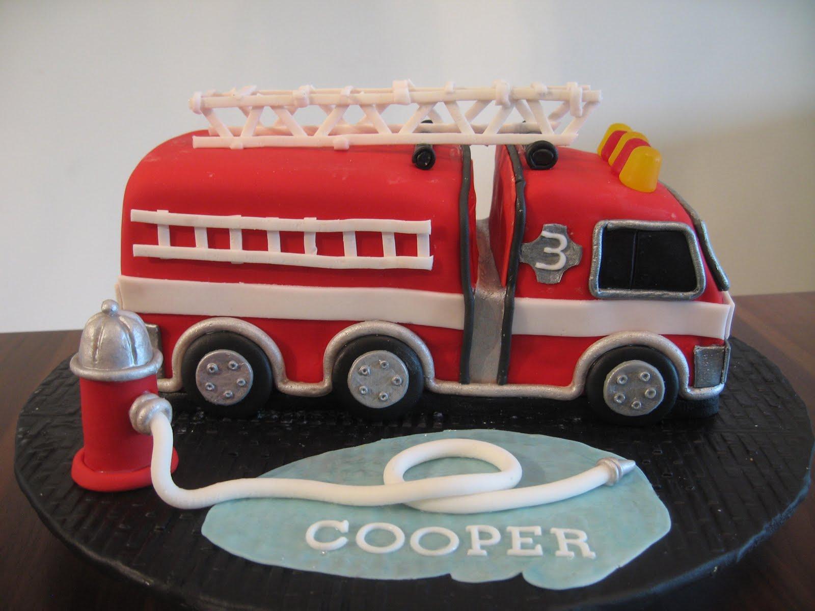 Fire Truck Cakes Decoration Ideas