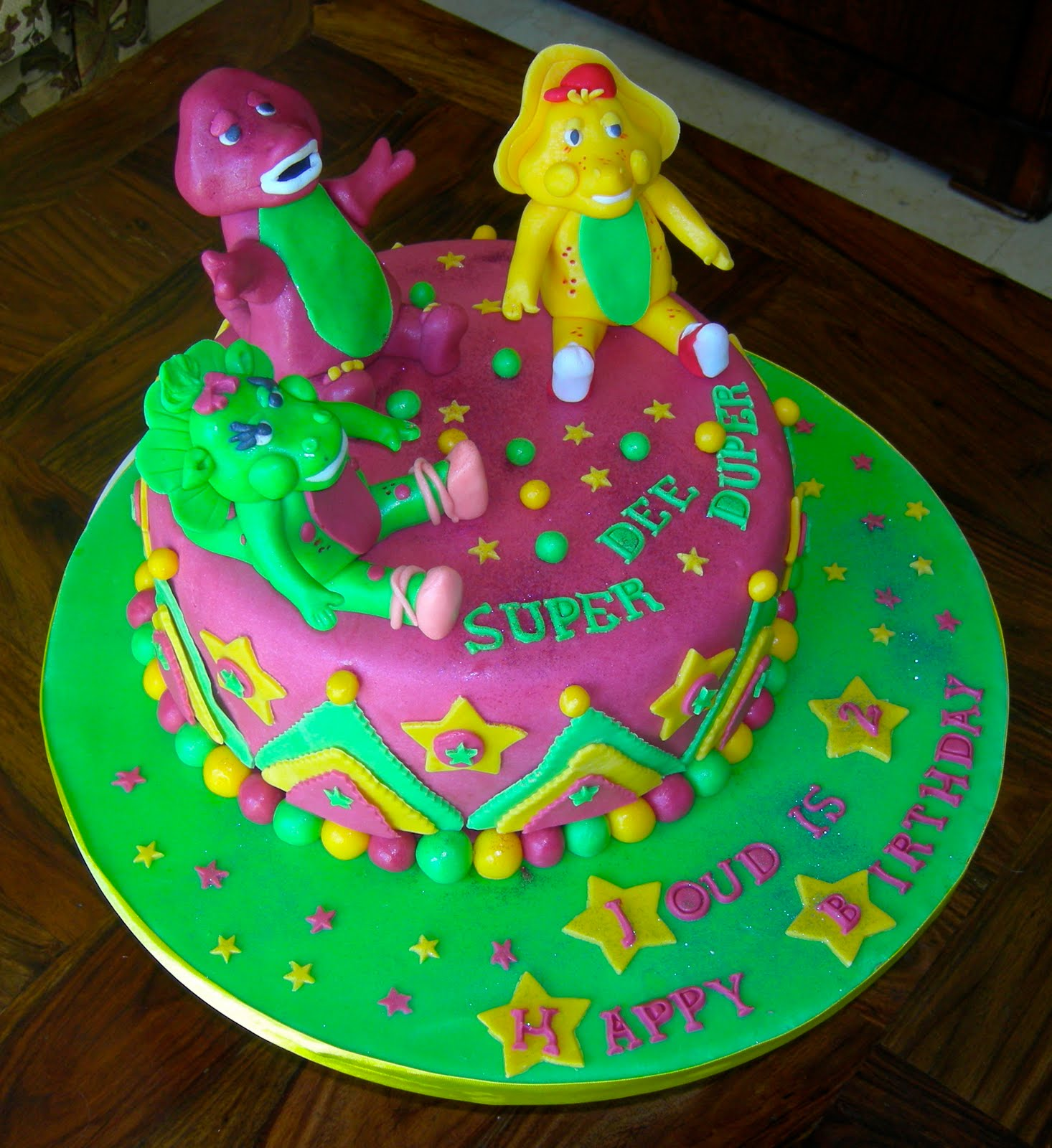 Barney Cakes Decoration Ideas
