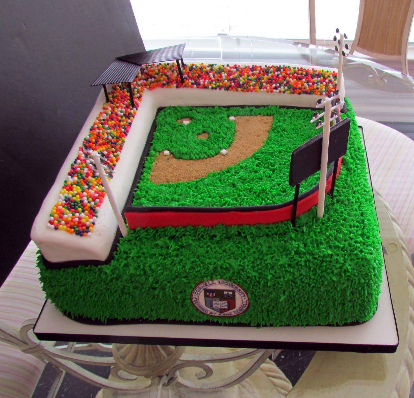 Baseball Field Cakes Decoration Ideas