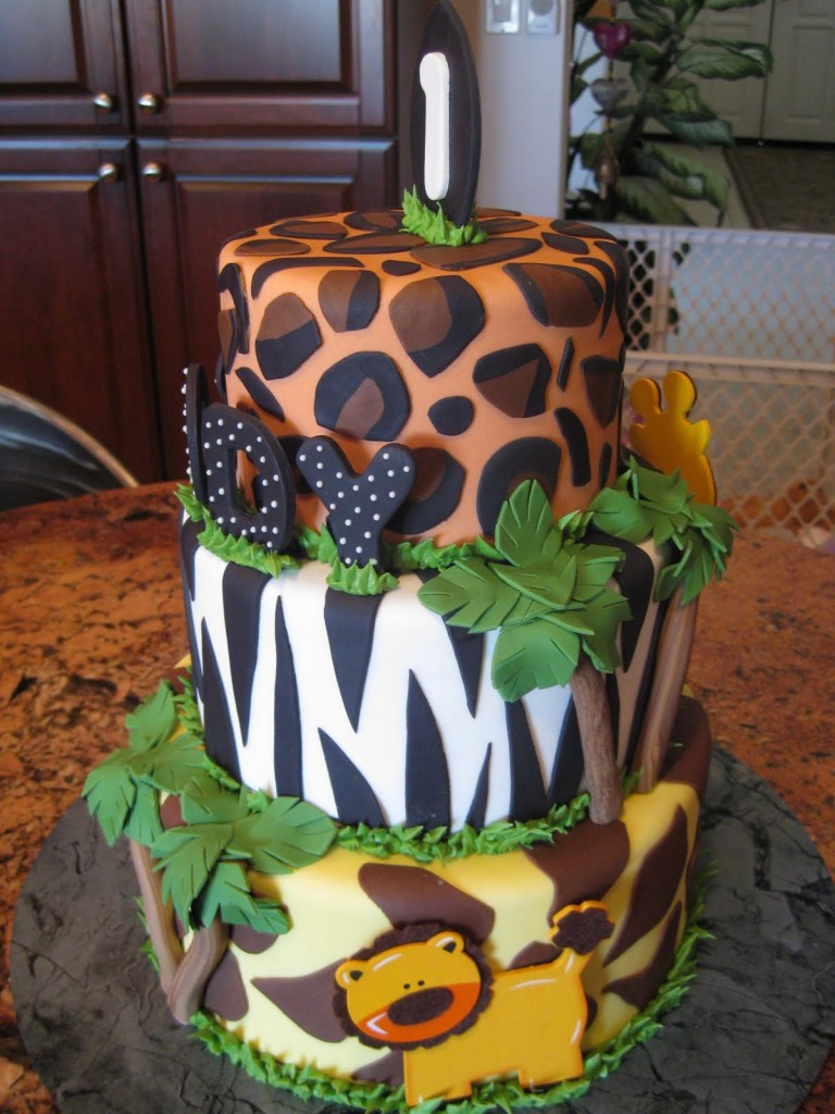 Jungle Cakes Decoration Ideas Little Birthday Cakes