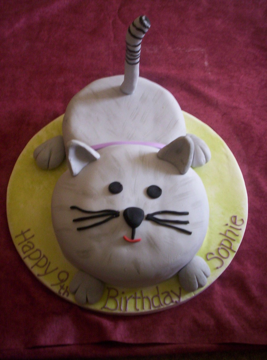 Easy cat cake novelty cakes Pinterest