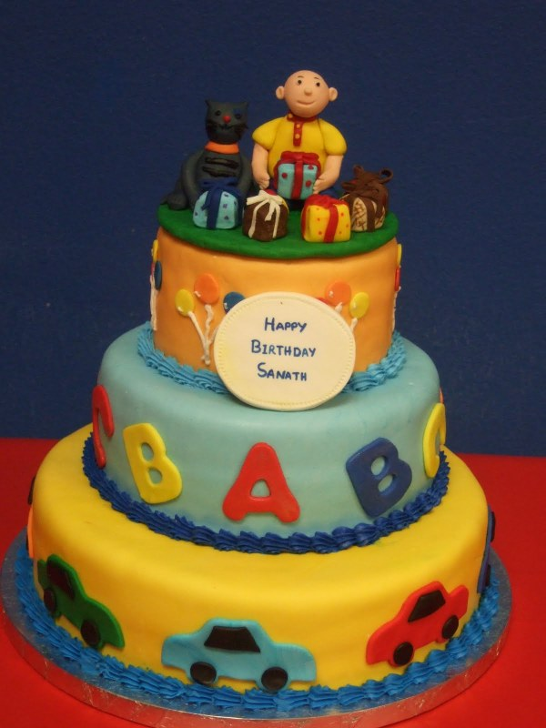 Caillou Birthday Cakes Decoration Ideas Little