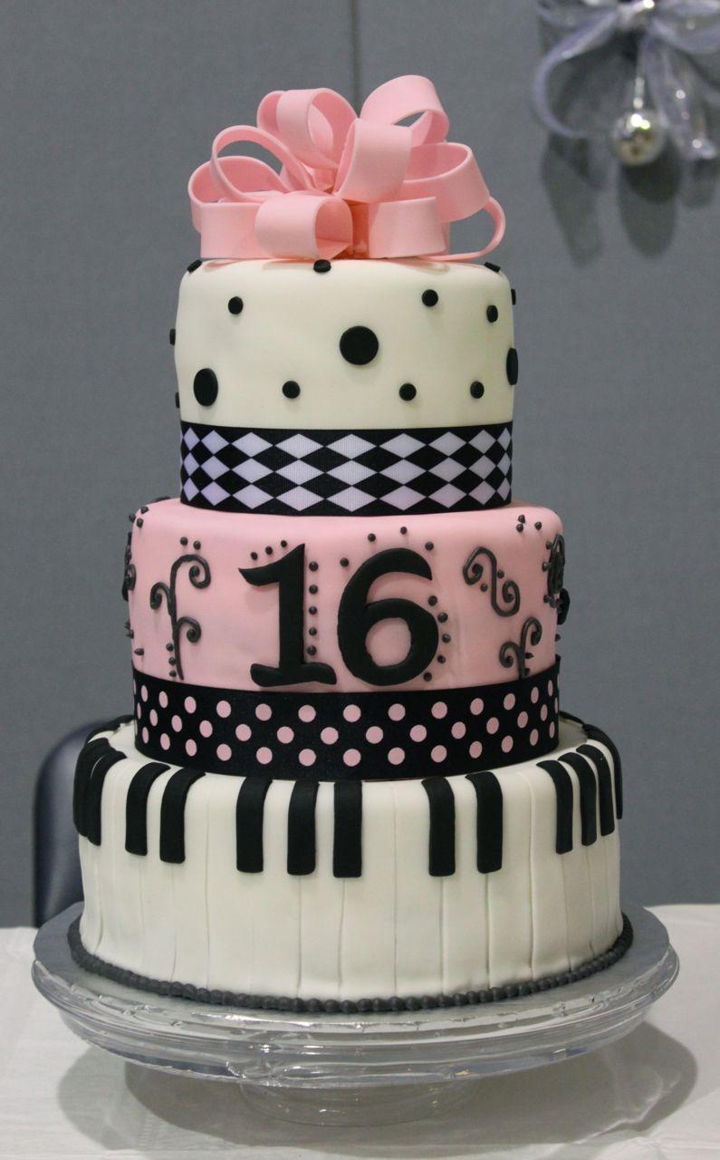 sweet 16 cakes decoration