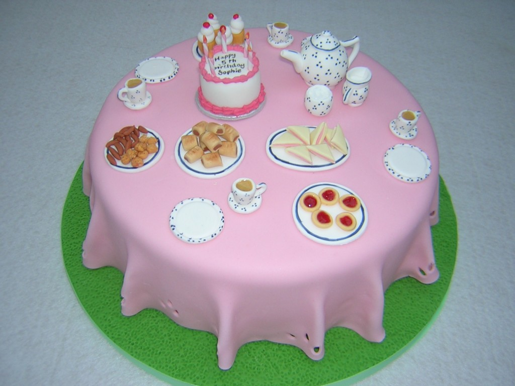 Tea Party Cakes Decoration Ideas
