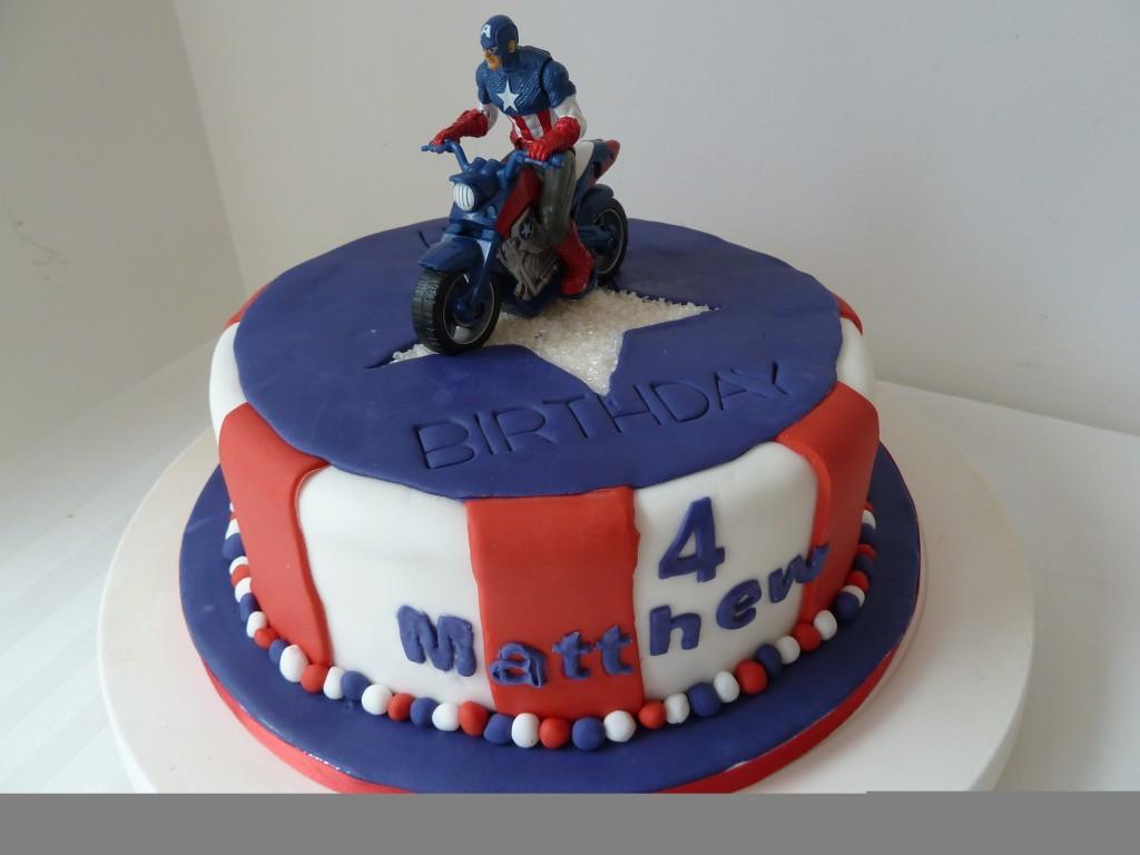 Captain America Cakes Decoration Ideas