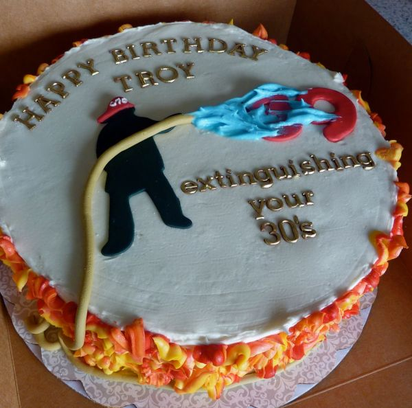 Happy Birthday Firefighter Pictures Of Cakes Year Of Clean Water