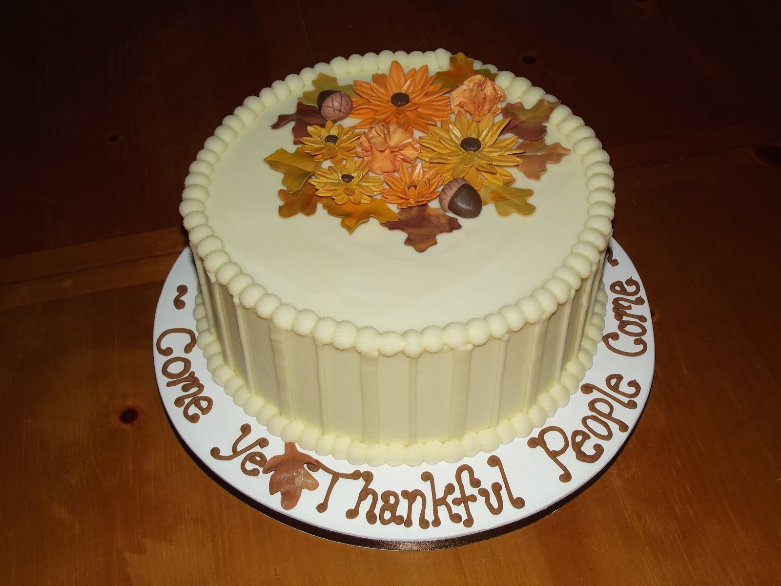 Thanksgiving Cakes Decoration Ideas