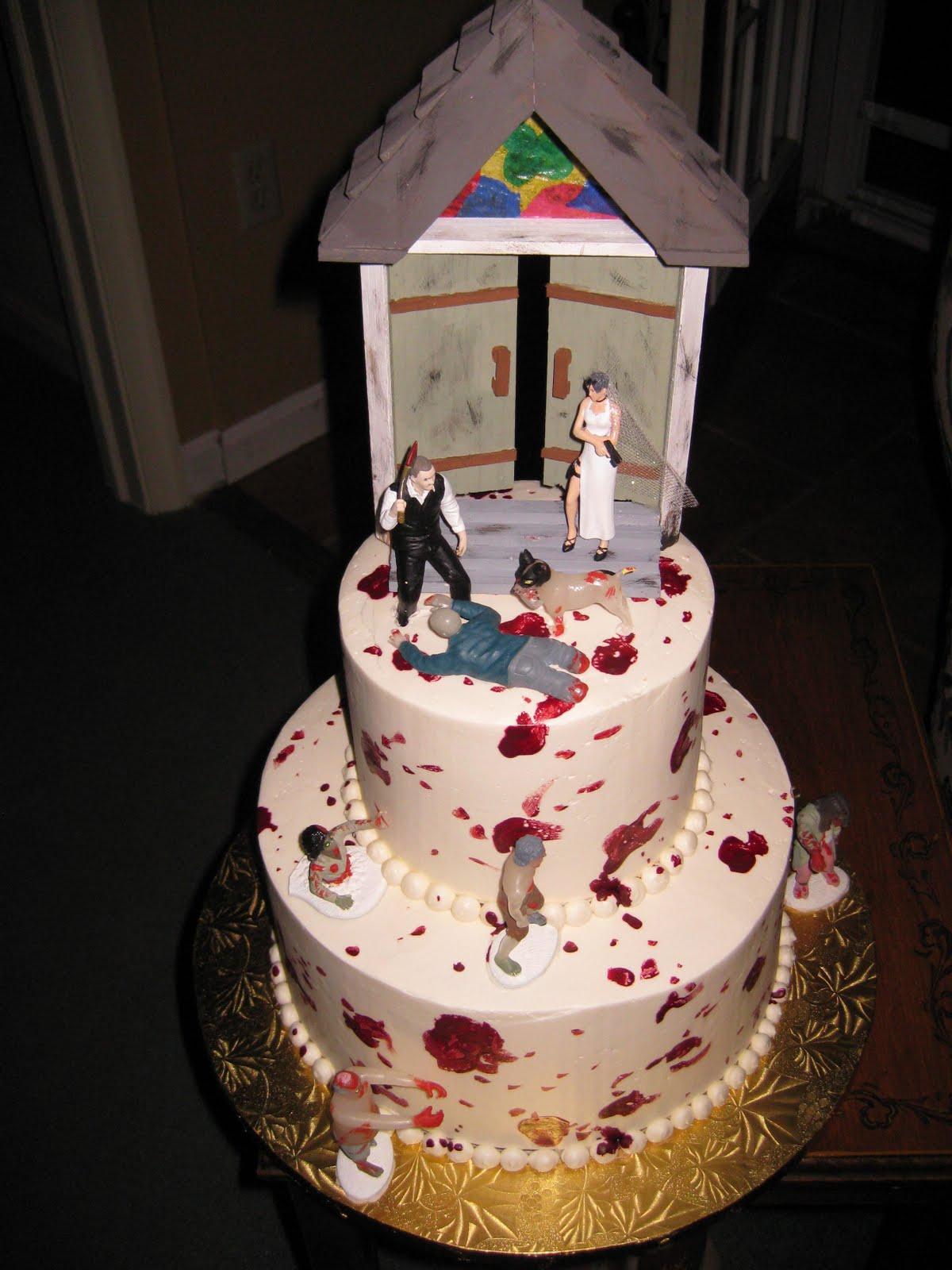 Zombie Wedding Cakes Decoration Ideas