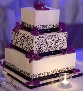 Purple wedding cakes  Decoration ideas  Little Birthday Cakes