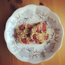 Spiced Plum Oat Cookies