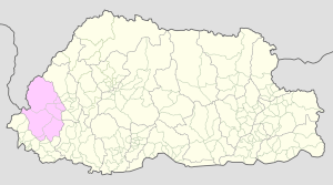Haa on Bhutan Map