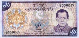 Ten Ngultrum (Bhutanese Currency)