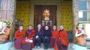 Sandy & Jemima Fonseka at the Zilukha Nunnery in Thimphu