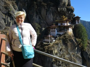 Tiina Wikstroem at the Tiger's Nest Monastery