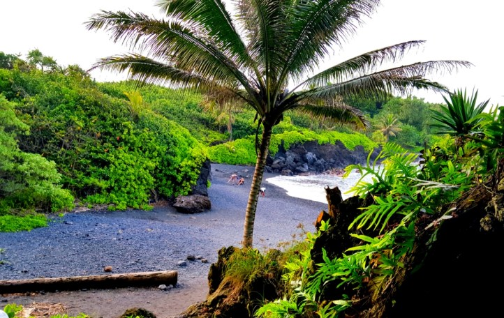 See this Black Sand Beach in Maui Hawaii