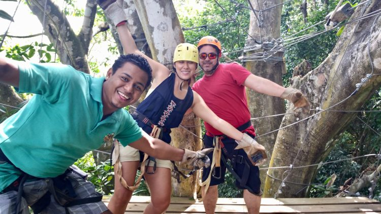 Fun things to do in Roatan Honduras... Zipline to the beach at Gumbalimba Monkey Trail Canopy. Read more on the blog!