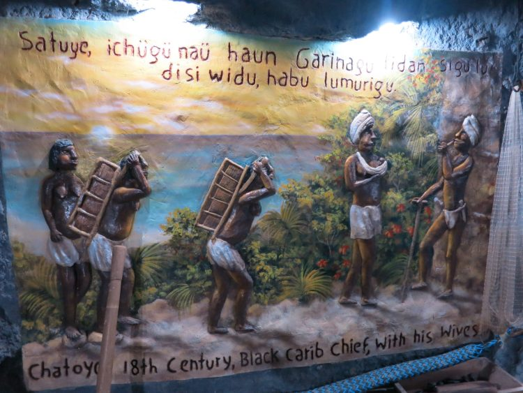 Murals that depict some of the history of Roatan.