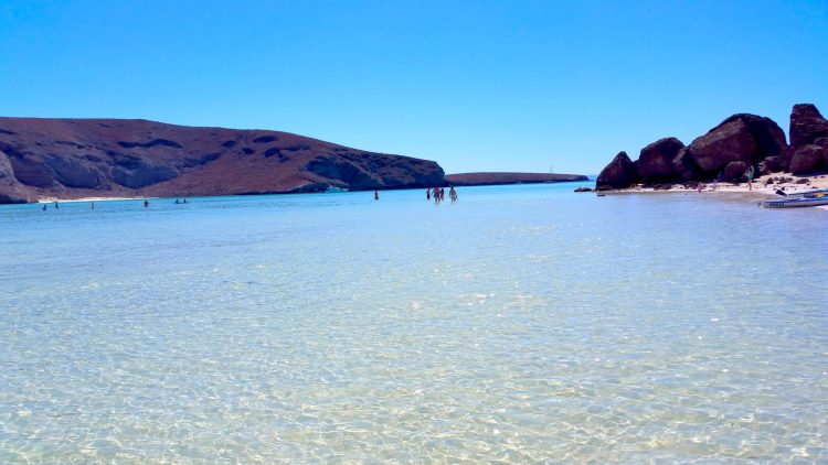 Balandra Beach - A Magical Oasis in the desert in La Paz Mexico - a day trip from Cabo San Lucas. Read more about it on the blog.