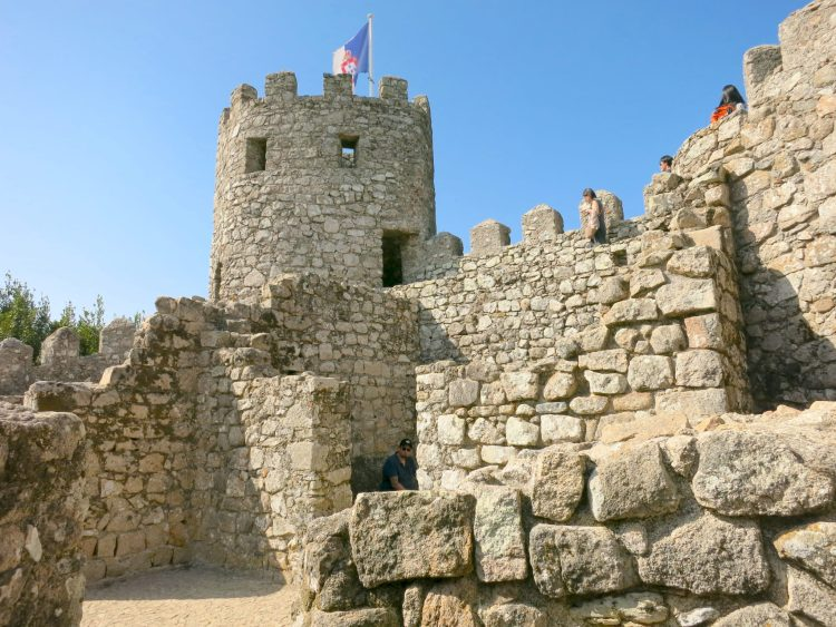 Medieval castle in portugal called the Moors Castle