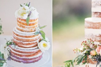Selection of naked wedding cakes