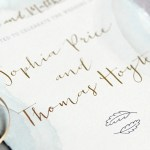 handmade wedding stationery
