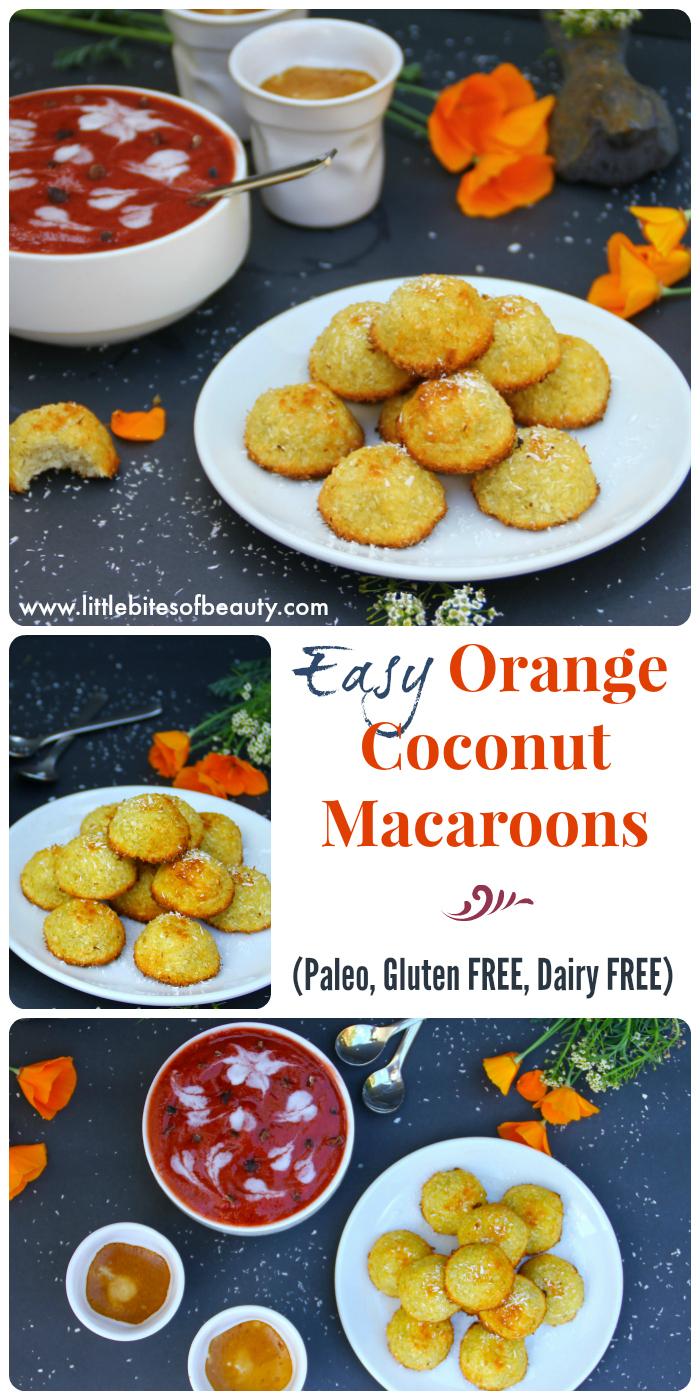 Paleo Orange Coconut Macaroons