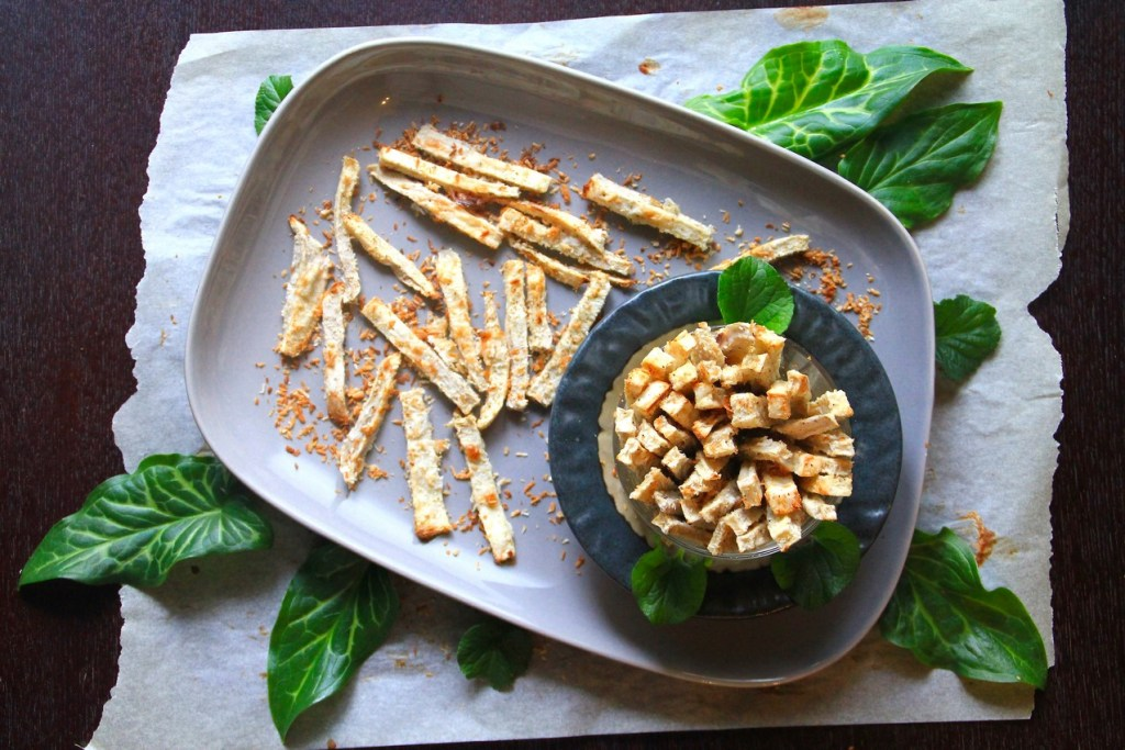 Coconut Crusted Taro Fries (GF, Paleo, AIP)