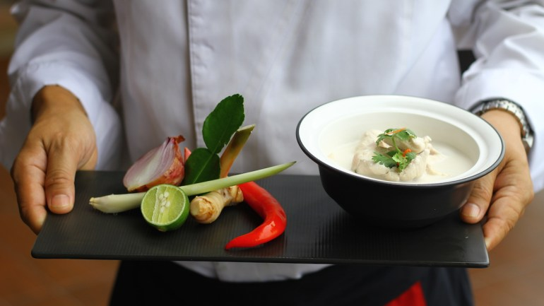Gluten Free Tom Kha Gai from the Intercontinental Ko Samui (Paleo, AIP)