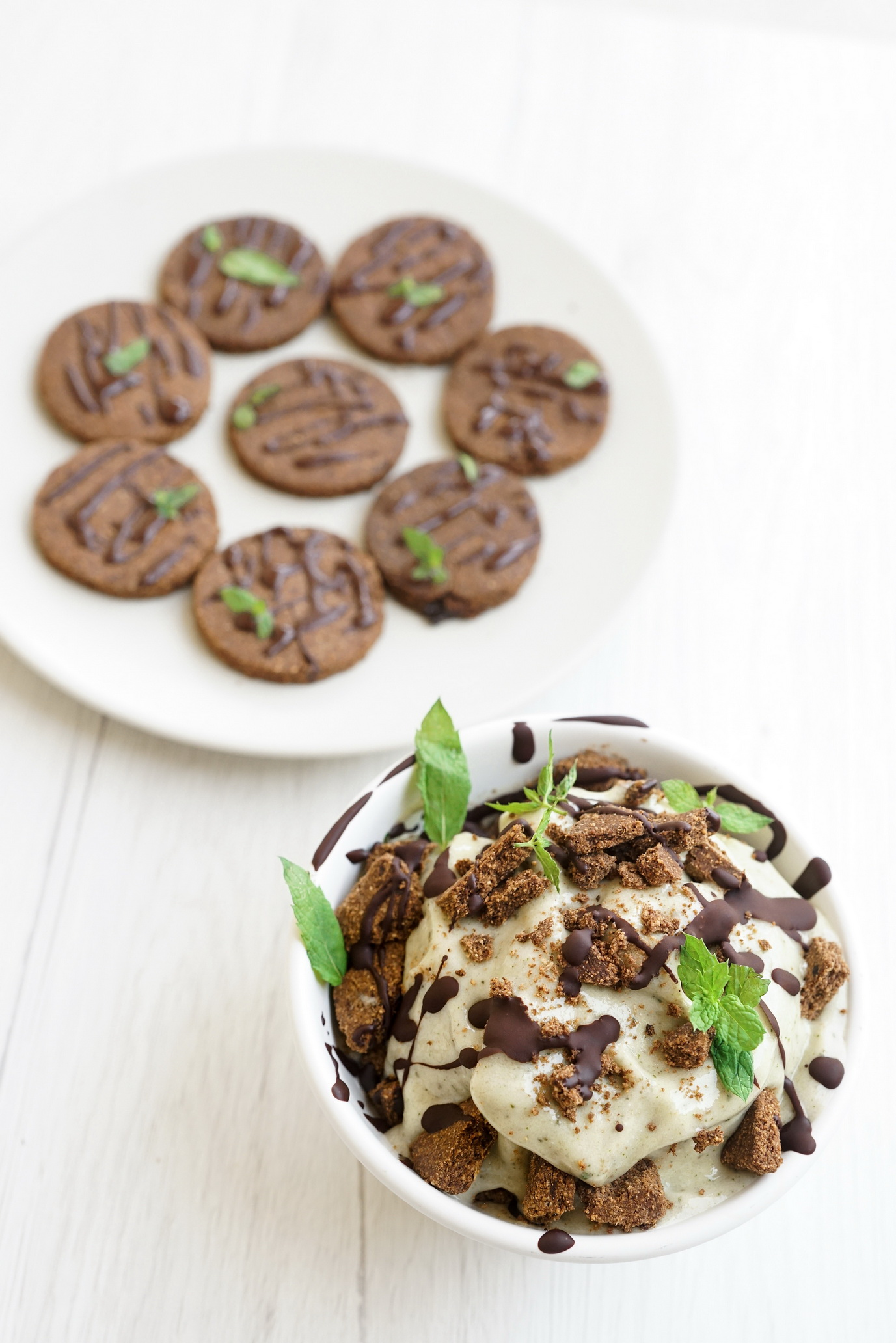 Mint Chip Ice Cream with Double Chocolate Cookies (GF, DF, Paleo)