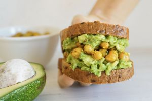 Chickpea Avocado Toast with Turmeric (Dairy & Gluten Free)
