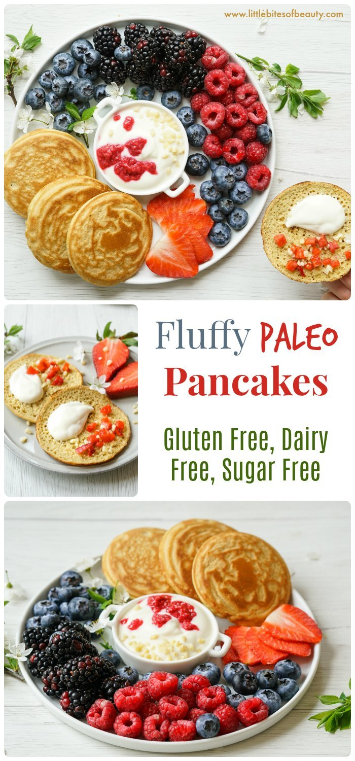 Easy Fluffy Paleo Pancakes (Gluten Free, Dairy Free, Sugar Free)